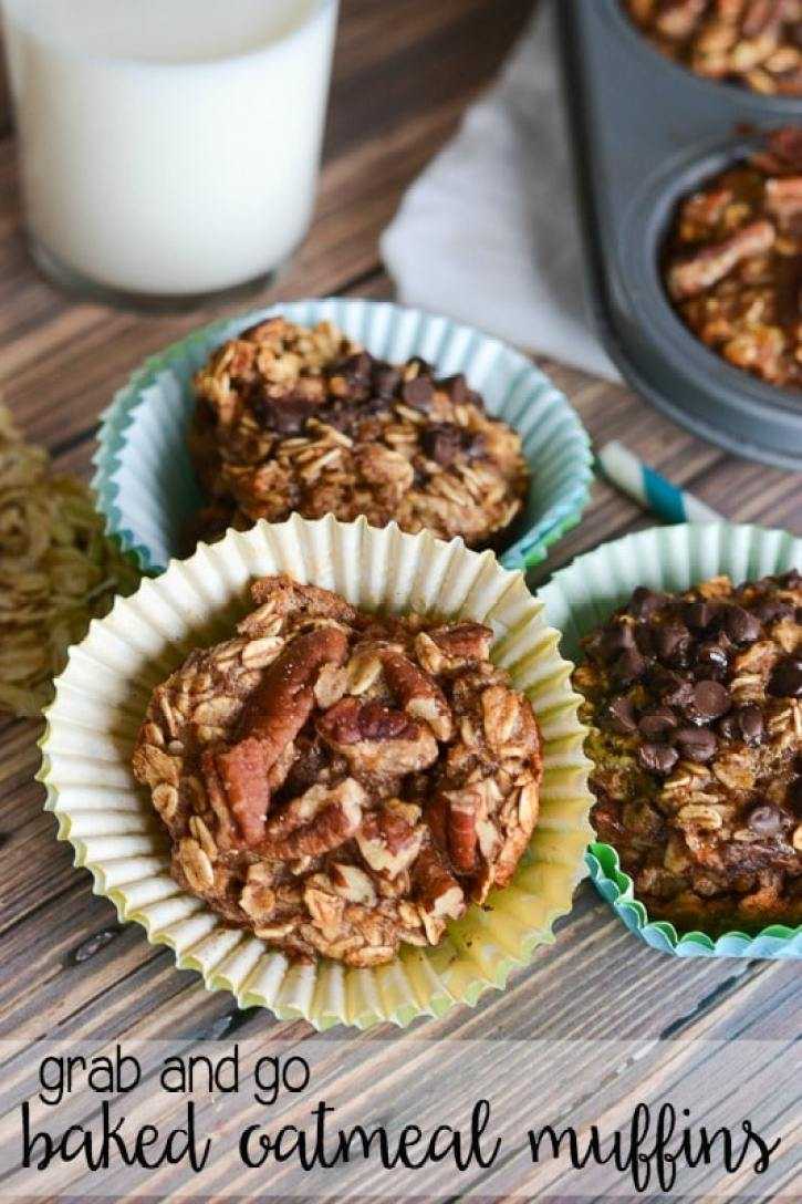 grab and go baked oatmeal muffins