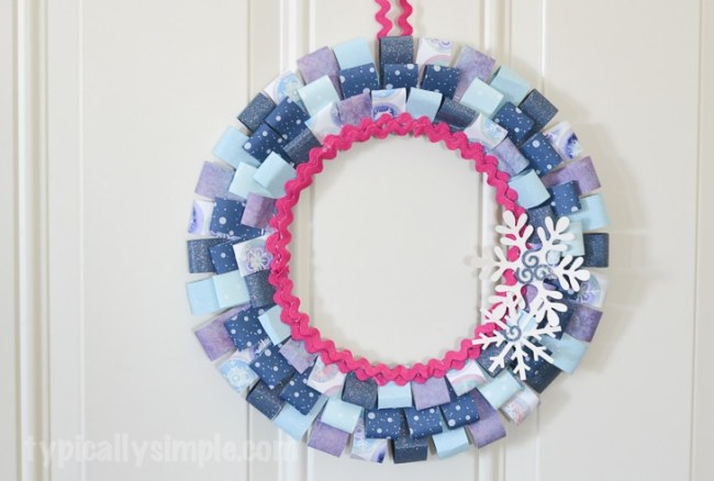 Scrapbook Paper Winter Wreath