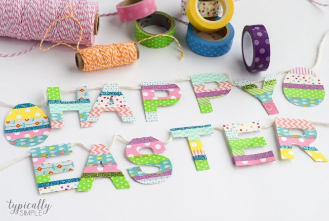 Washi Tape Easter Banner