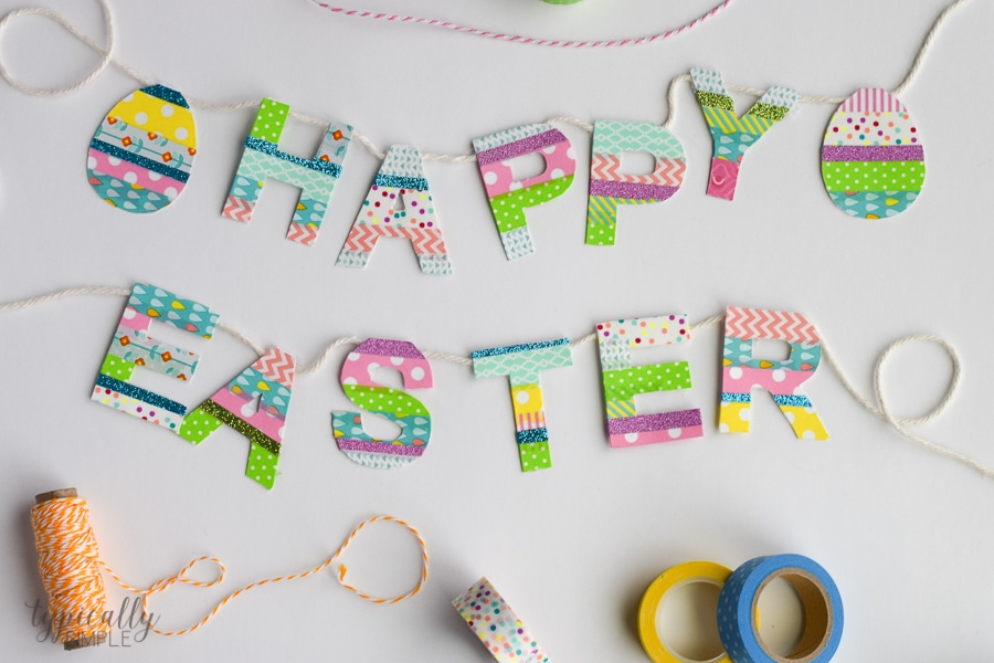 A great way to use up some of that washi tape stash, this Easter banner is a fun addition to your spring decor!