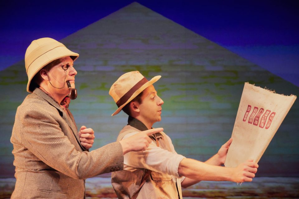 Simon Nock and Izaak Cainer in Awful Egyptians by Birmingham Stage Company Photo by Mark Douet