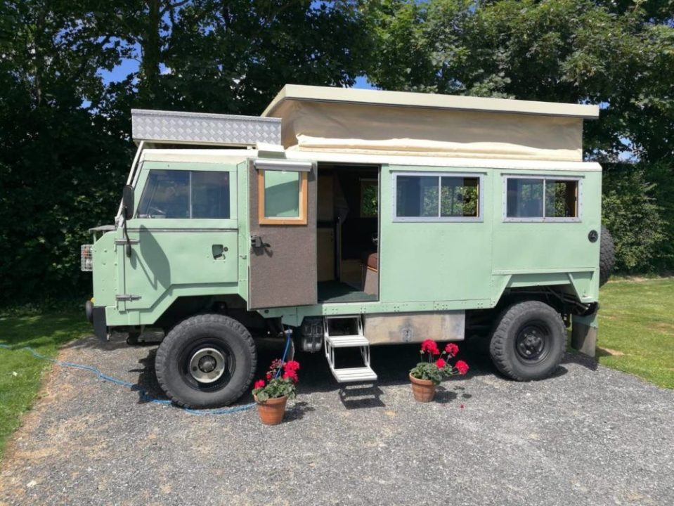 Monty - 1 of 2 ex-military vehicles converted for glamping on Anglesey