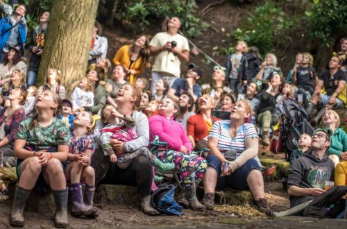 Audience at Just So Festival Woodland Theatre - Chris Payne