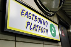 Platform signs also got a makeover from Honest Ed's (Ghosh. A, 2016).