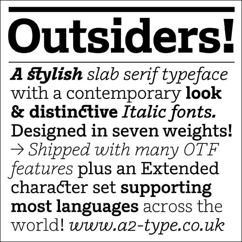 Outsiders fonts