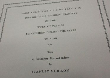 Four centuries of fine printing