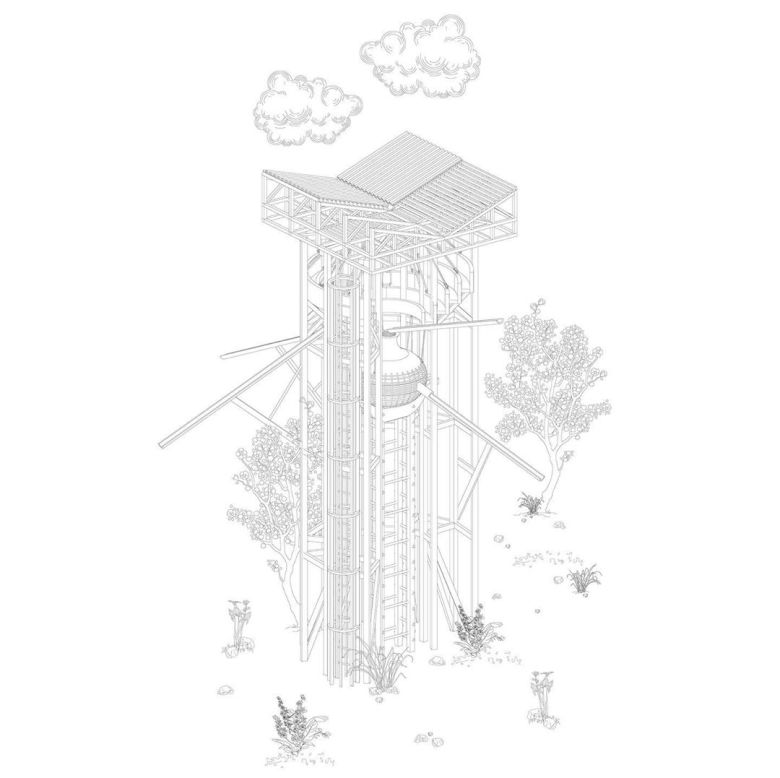 Arinjoy Sen: The Water Tower Spatial Typology 3 // A Construction of Time