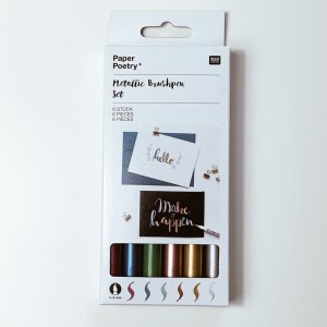 Brushlettering DIY Lettering rosegold gold silber