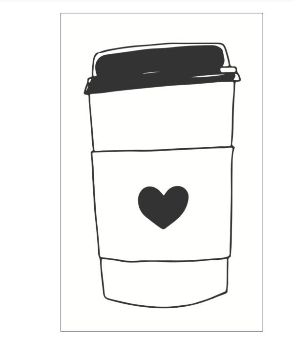 Kaffebecher diy Coffee mug