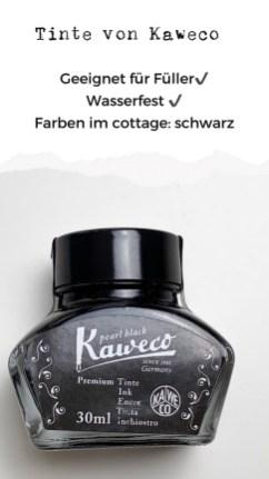 Tinte Kaweco schwarz