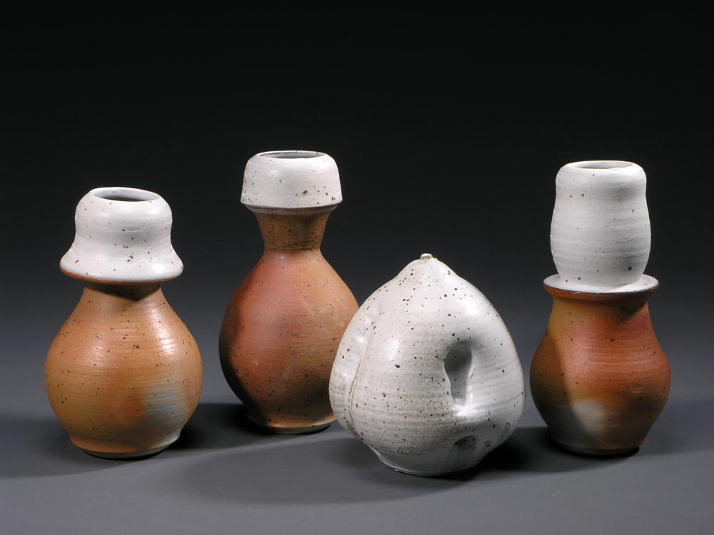 Vases and Table Top Object, Salt Fired Stoneware