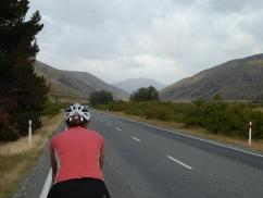 Approaching the start of the Lindis Pass