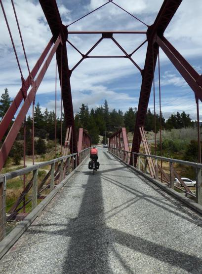 Crossing Luggate Bridge