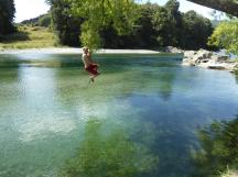 Riverside campsite rope swing (3)