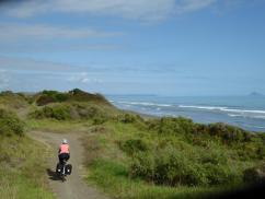 Sand dunes & the Pacific