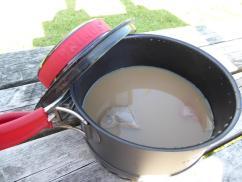 Tea in our Primus tea pot