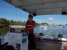 150. Philippa piloting the Husky Ferry