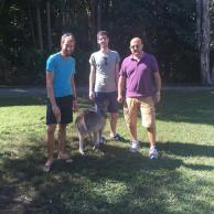 140. Adam, Alex & Paul from John Roan Science Dept at Currumbin Wildlife Sanctuary