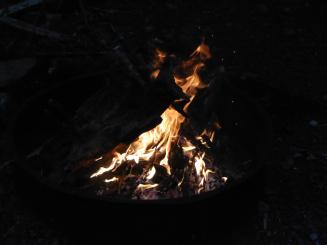 072. Campfire at Potlatch State Park