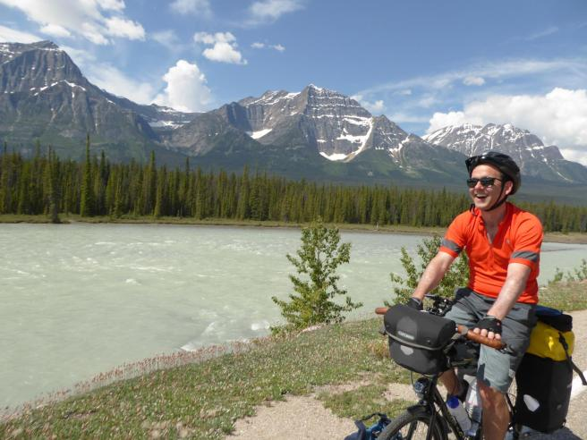 124. Neil next to the Athabasca River