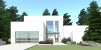 Modern Home with Theatre. 3 Bedrooms. Tyree House Plans.