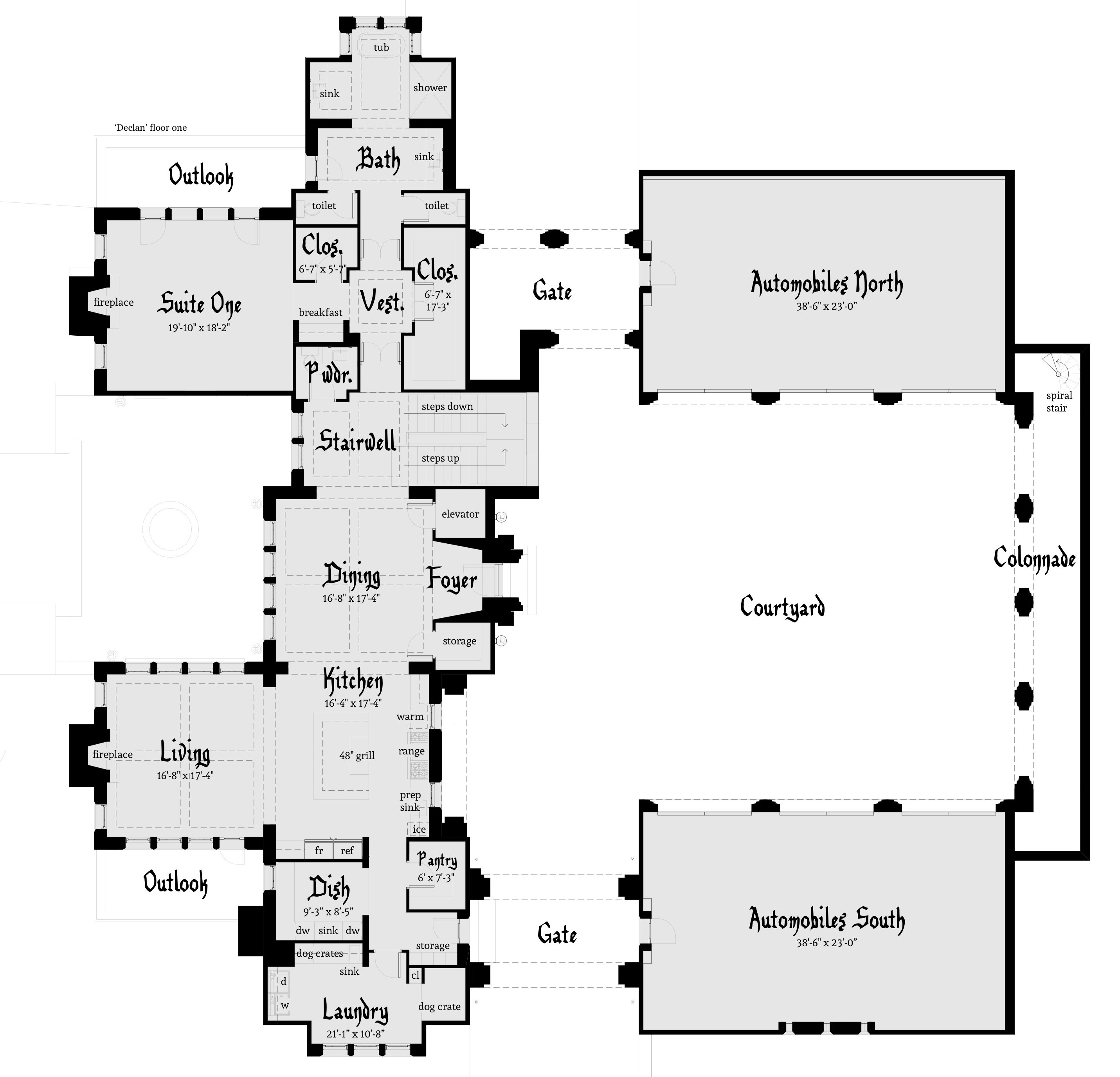 Declan Castle Plan by Tyree House Plans