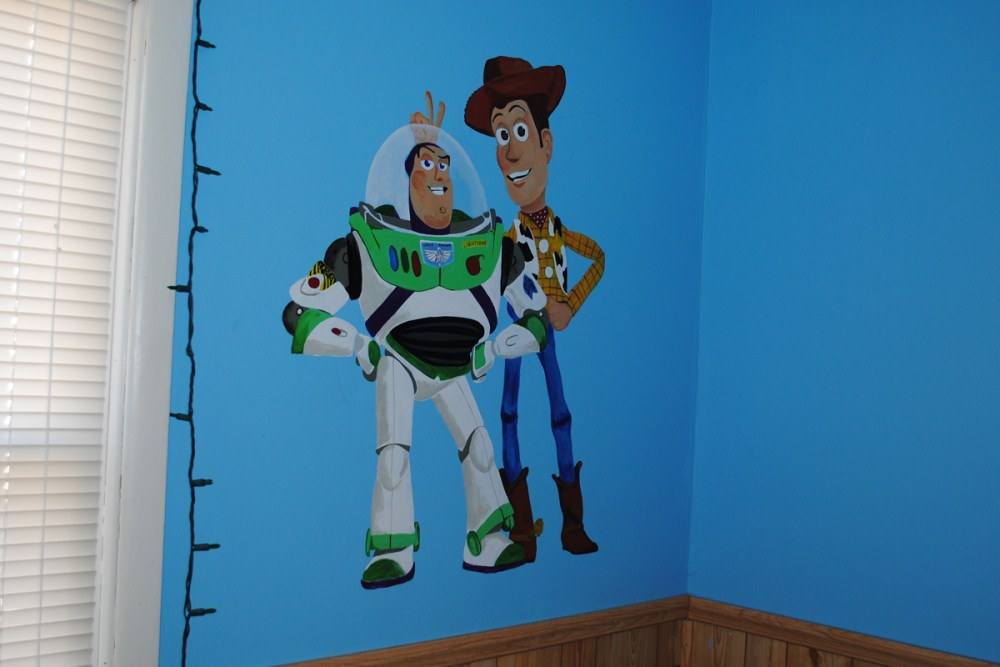Gavin's Toy Story mural finished! (2/2)