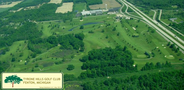 Tyrone Hills Golf Club Photo from the air May 2012