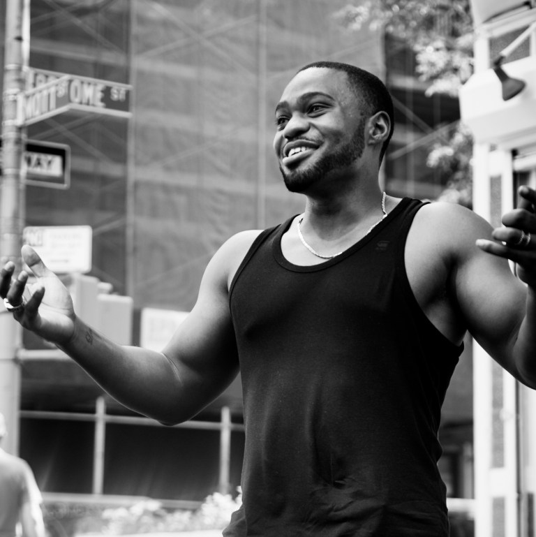 Shot by Mark Luckasavage in Nolita, NYC of Tyrone Smith