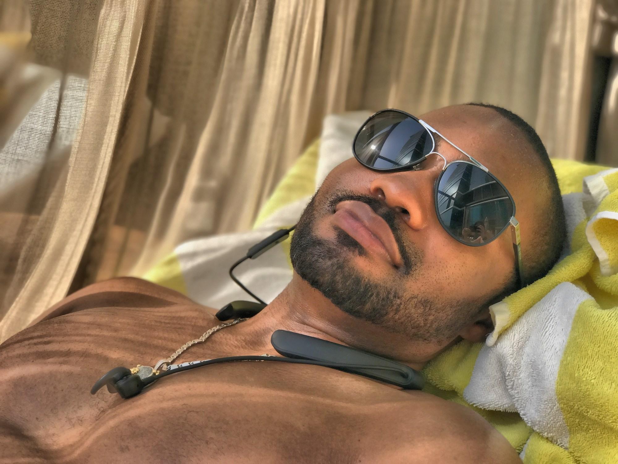 Dubai Tyrone Smith UAE Taj Billionaire Mansion love positive nyc music social media influencer smile LV Bose celebrities
