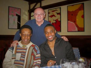 Lewis Hayes Jack Kreisberg and celebrity musician producer influencer Tyrone Smith in NYC