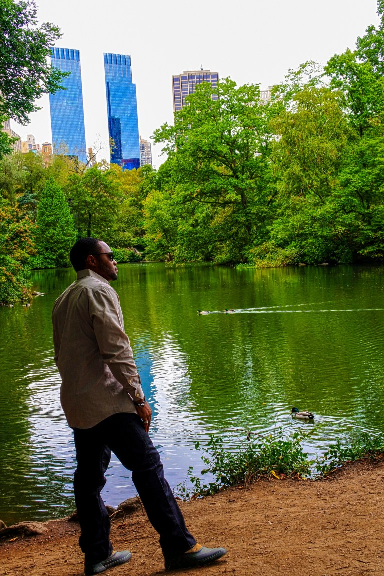 Tyrone Smith in Sperry Cutwater Deck Boot in Central Park NYC