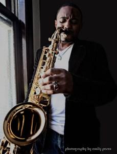 Tyrone Smith Musician Sax by Window Hollywood CA - Shot by Emily Perez