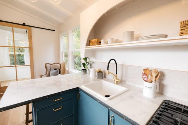 Vertical Photo of Tiny House Interior Decor