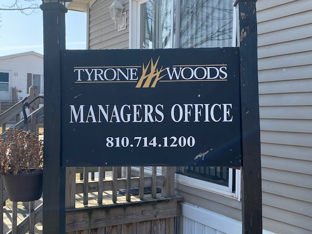 Tyrone Woods Signage Managers OFfice