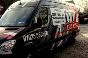 GT Radial tyres tyrZ wrapped Van