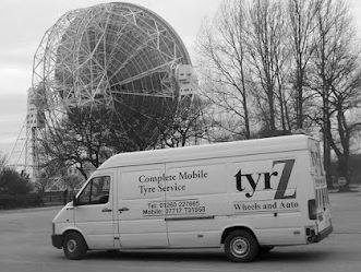 First tyrZ mobile van at Jodrell Bank