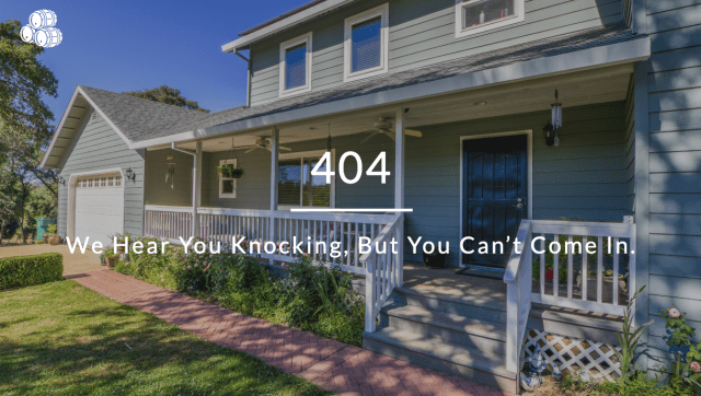The 404 page for Cooper Realty, one of our 10 best 404 pages.