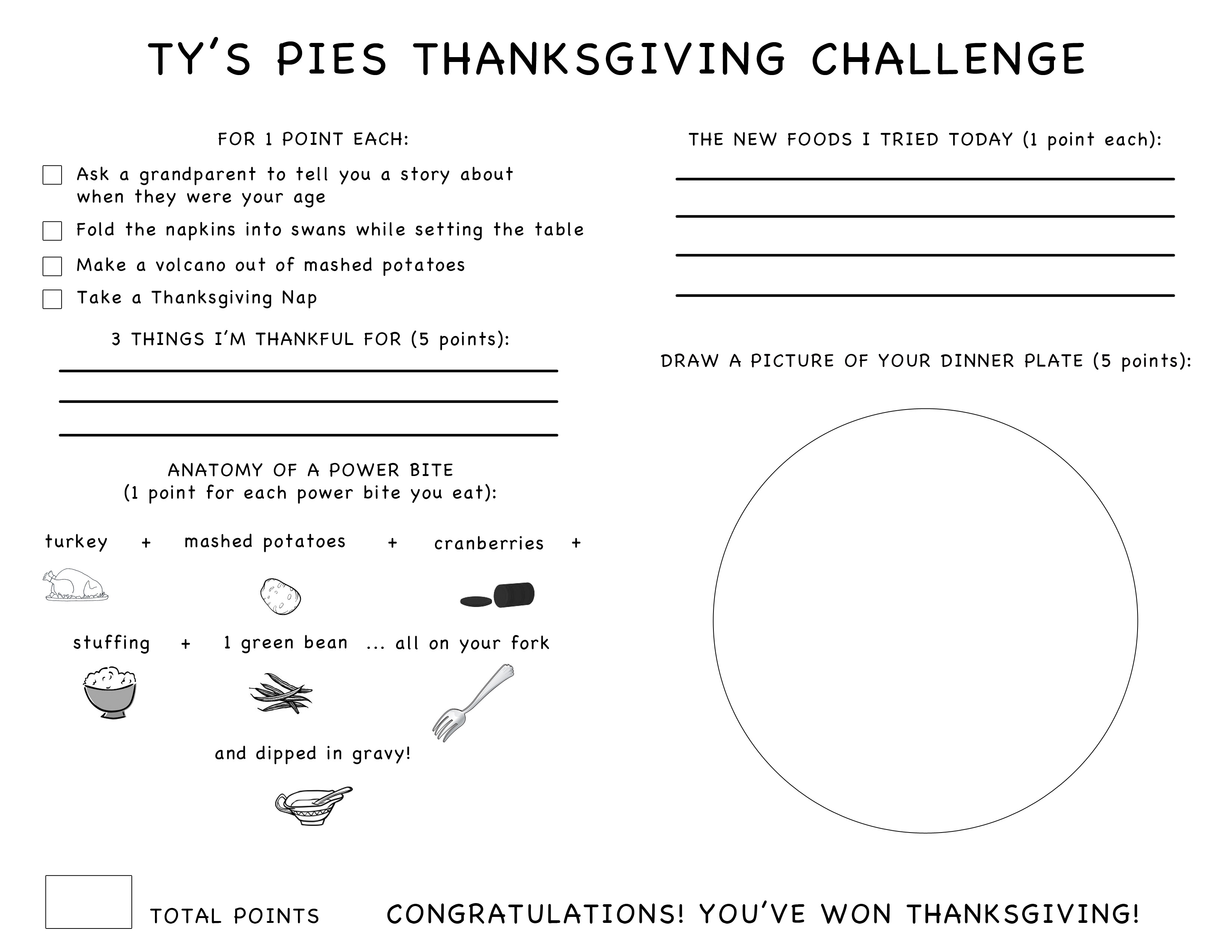 Ty S Thanksgiving Challenge