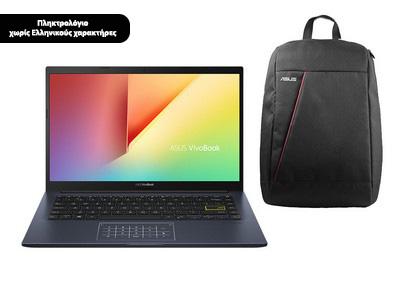"ASUS Vivobook X413JA-EB120T 14.0"" FHD (i5-1035G1/8GB/512GB/Windows 10 Home) με Nereus V2 Backpack"