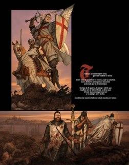 El Traje Alterno de el protector esta basado en un mini comic sobre su origen como angel Guardian en la epoca de las cruzadas