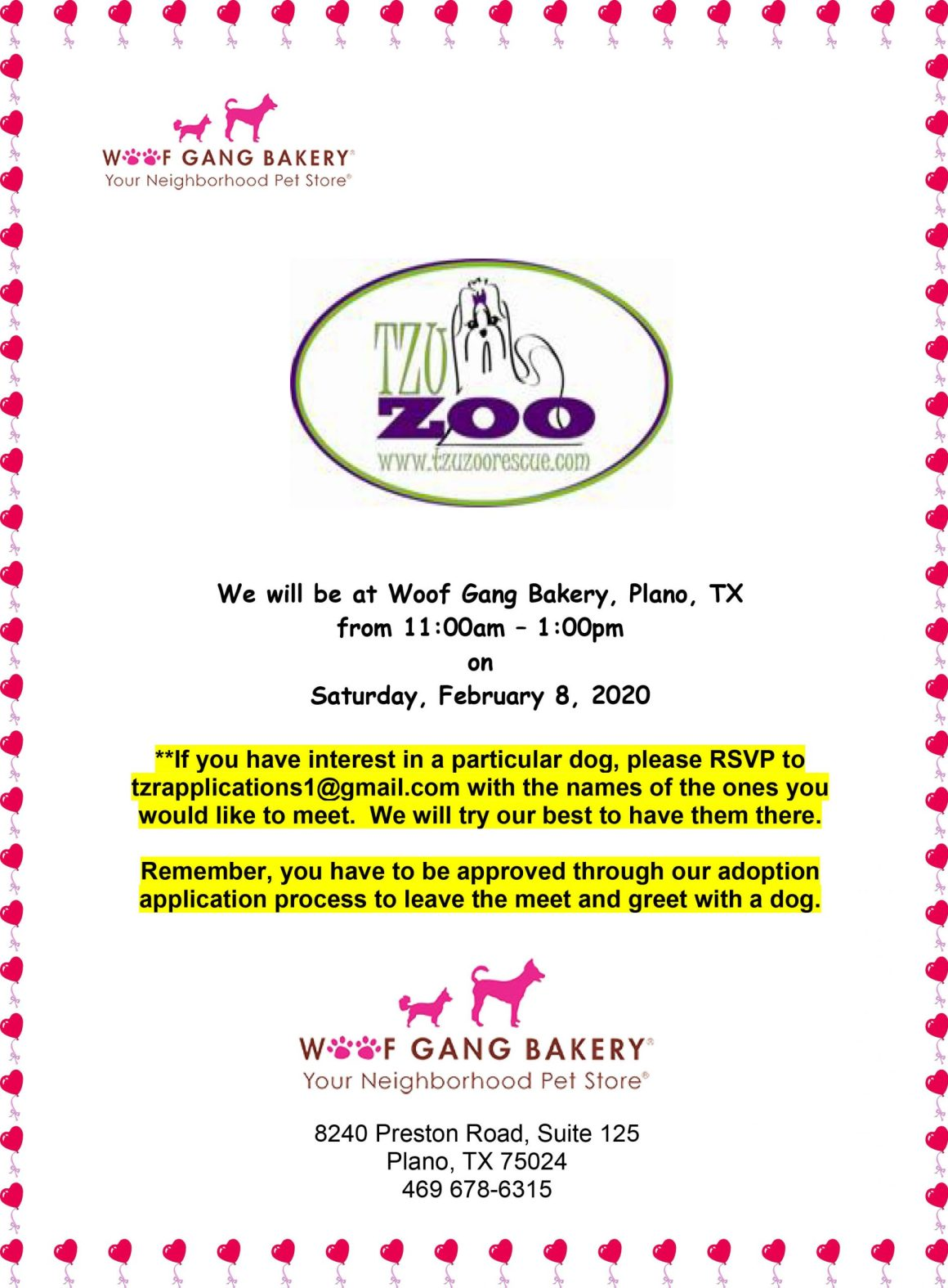 Meet & Greet, Wolf Gang Bakery -  Plano, TX