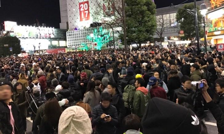 大晦日渋谷年越しカウントダウン スクランブル交差点