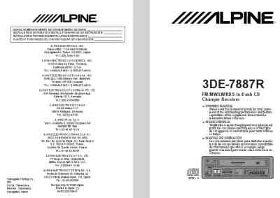 ALPINE 3DE-7887R Car radio download manual for free now