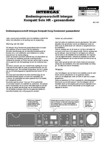 INTERGAS INTERGAS KOMPAKT SOLO HR Central heating download
