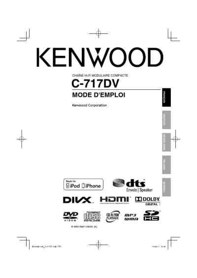 KENWOOD C-717DV HiFi system download manual for free now