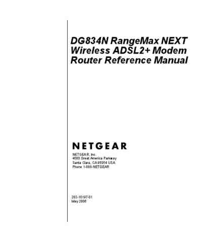 NETGEAR DG834N RANGEMAX NEXT WIRELESS ADSL2 MODEM ROUTER