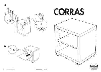 IKEA CORRAS NACHTTAFELTJE Furniture download manual for