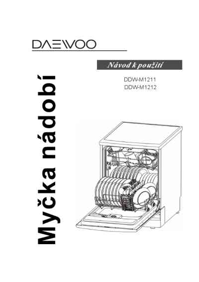 DAEWOO DDW-M 1211 Dishwasher download manual for free now