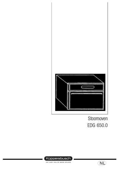 KUPPERSBUSCH EDG 650 Oven download manual for free now